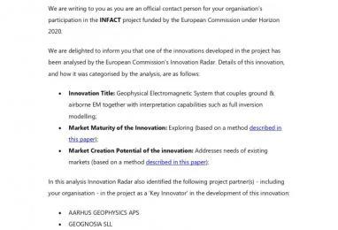 Recibimos el reconocimiento de la comisión Europea de Innovación